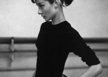 David Seymour - Paris. 1956. Dutch actress Audrey Hepburn.