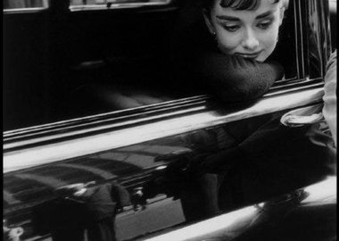 "Dennis Stock - USA. New York, NY. 1954. Dutch actress Audrey Hepburn during the filming of ""Sabrina"" by Billy Wilder."