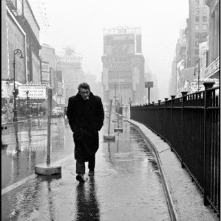 USA. New York City. 1955. James Dean haunted Times Square. For a novice actor in the fifties this was the place to go. The Actors Studio, directed by Lee Strasberg, was in its heyday and just a block away. art for sale