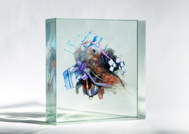 work by Dustin Yellin - Schwitter's Kiss