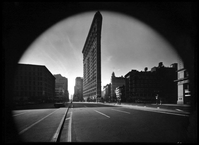by elliott_erwitt - New York City. Flat Iron Building. 1969.