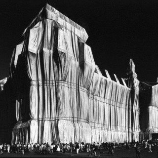 "Germany. Berlin. 1995. ""Wrapped Reichstag"" by Christo and Jeanne-Claude. art for sale"