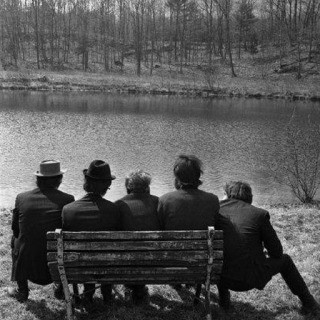 Elliott Landy, The Band behind Big Pink, Easter Sunday, West Saugerties, NY, 1968.