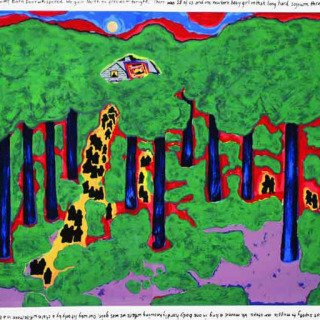Faith Ringgold, Coming to Jones Road Under a Blood Red Sky #5