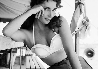 "Frank Worth - Elizabeth Taylor classic portrait on set of ""Giant"""