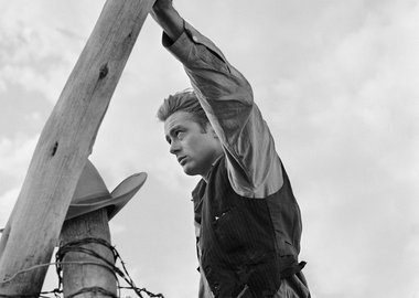 "Frank Worth - James Dean Hand on Post Set of ""Giant"""