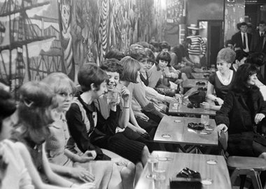 George Rodger - England. Liverpool. Youth at the Blue Angel beat club. 1964.