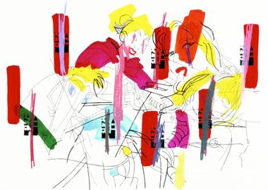 work by Ghada Amer - Sleeping Beauty