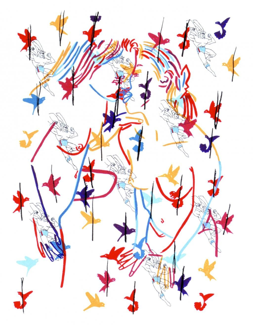 Ghada Amer, Superman And The Birds
