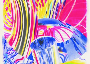 work by James Rosenquist - Cabeza de Vaca, Sorcerer