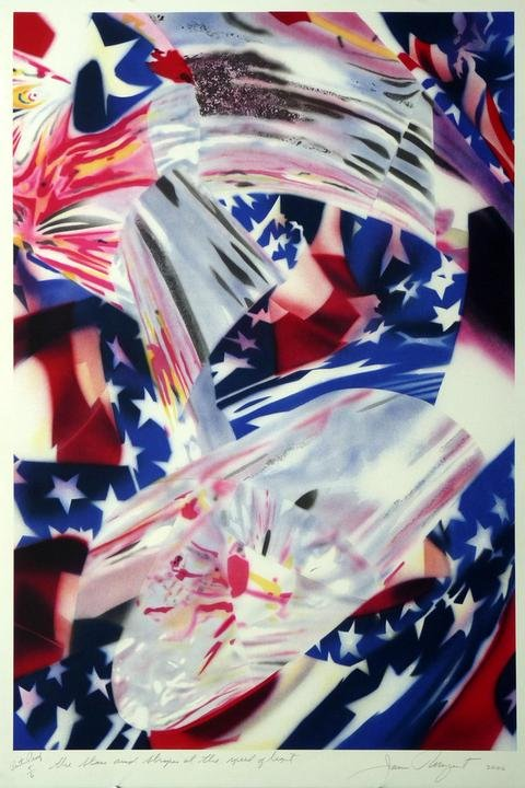 by james_rosenquist - STARS AND STRIPES AT THE SPEED OF LIGHT