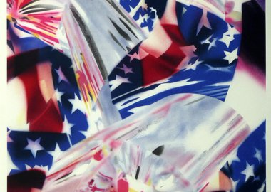 James Rosenquist - STARS AND STRIPES AT THE SPEED OF LIGHT