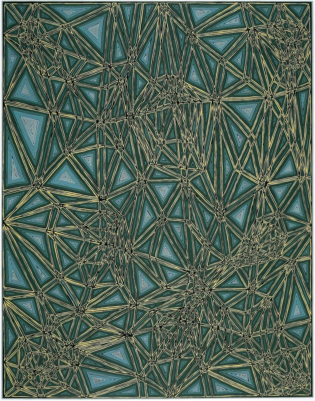 main work - James Siena, Shifted Lattice