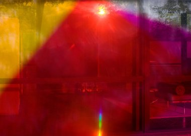 work by James Welling - 9818 (Glass House)