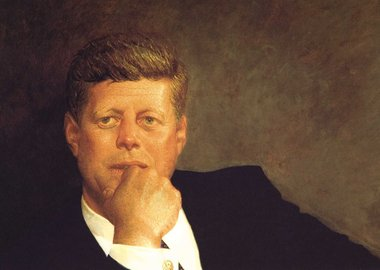 work by Jamie B. Wyeth - Portrait of JFK