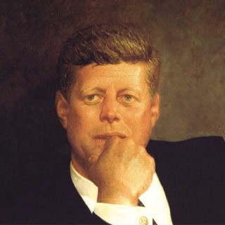 Portrait of JFK art for sale