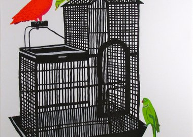 work by Jonas Wood - Bird Cage XVIII