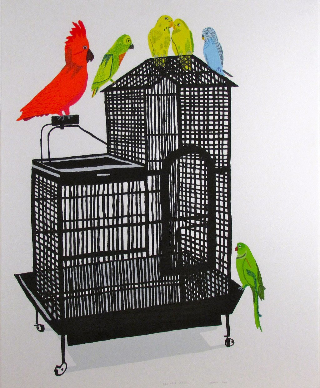 Jonas Wood, Bird Cage XVIII