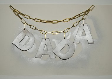 work by Jonathan Monk - DADA NECKLACE