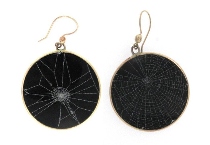 by judith_hudson - Spider Web Earrings