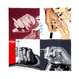 Men's Hands, Smoking art for sale