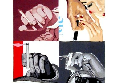 Julia Jacquette - Men's Hands, Smoking
