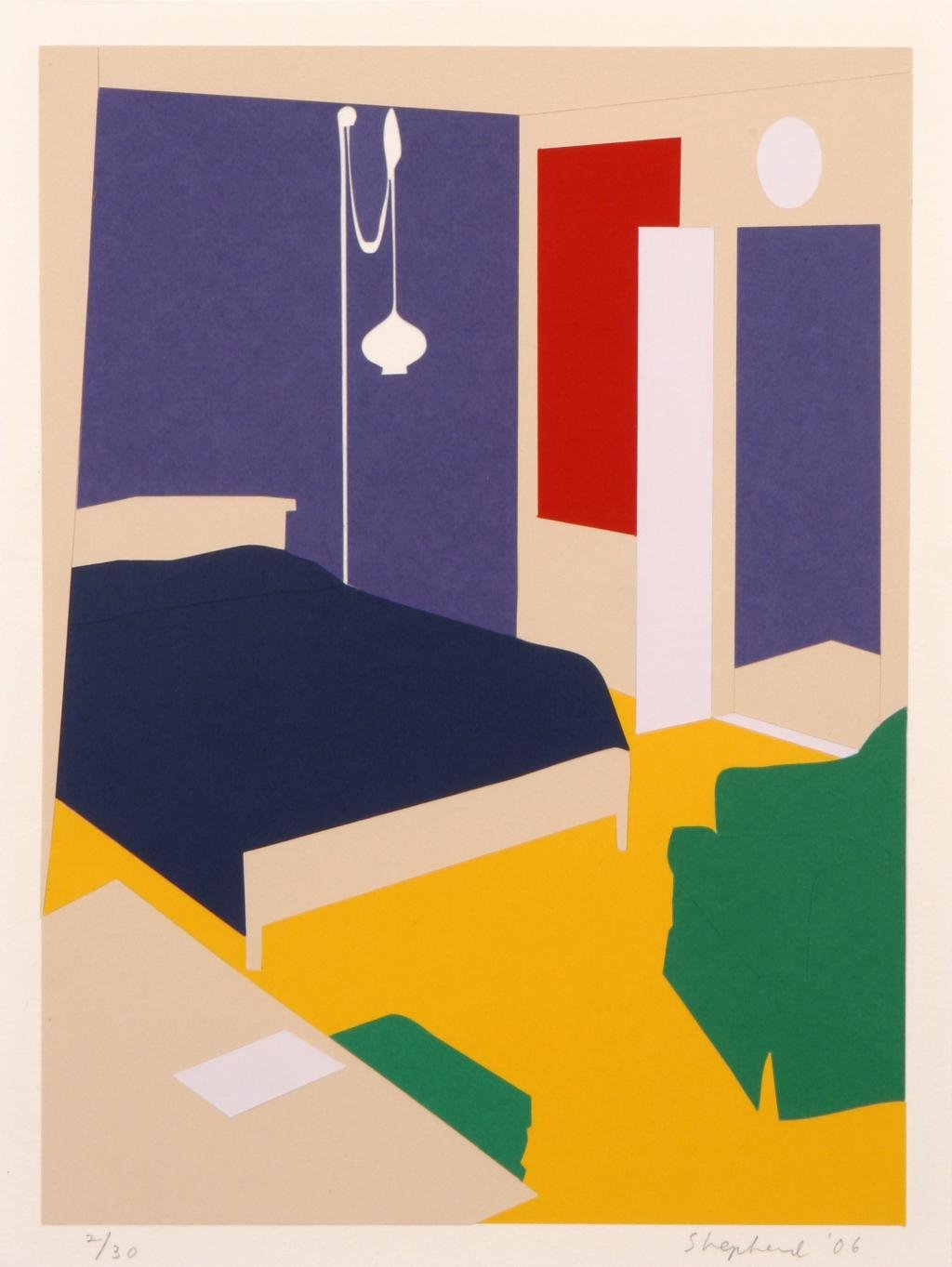 main work - Kate Shepherd, Paper Bedroom