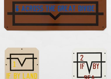 work by Lawrence Weiner - & Across the Great Divide