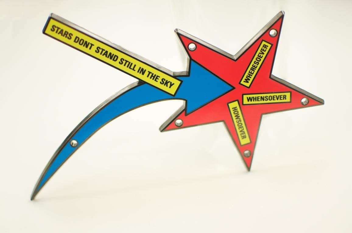 by lawrence_weiner - STARS DONT STAND STILL IN THE SKY
