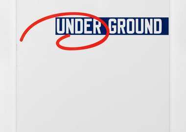 work by Lawrence Weiner - UNDER GROUND