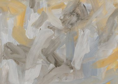 Leah Durner - Untitled (pale grey yellow ochre)