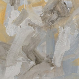 Leah Durner, Untitled (pale grey yellow ochre)