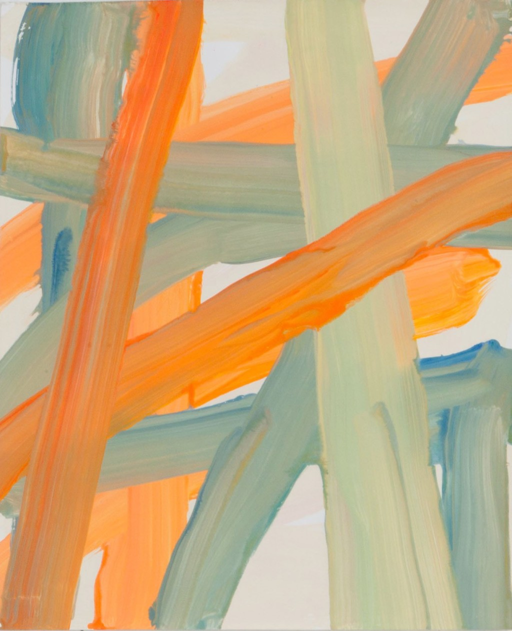 main work - Leah Durner, Untitled (orange beige bluegreen)