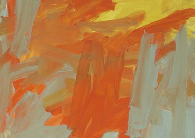 work by Leah Durner - Untitled (orange yellow bluegray)
