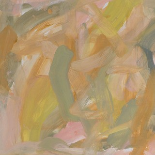 Leah Durner, Untitled (pale pink pale olive yellow ochre)