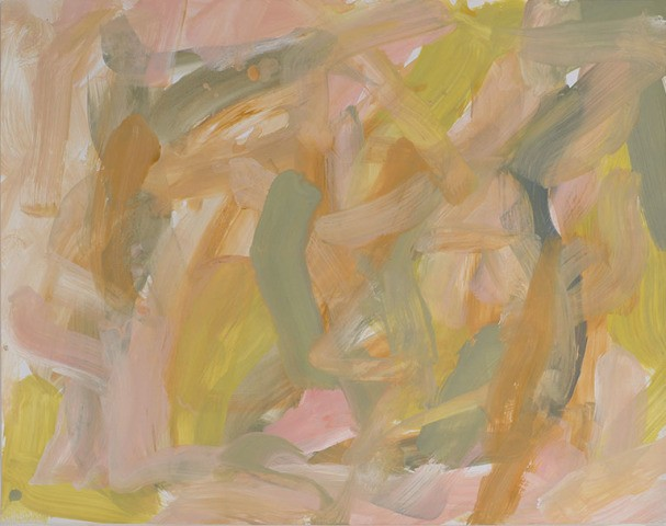 main work - Leah Durner, Untitled (pale pink pale olive yellow ochre)