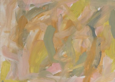 Leah Durner - Untitled (pale pink pale olive yellow ochre)