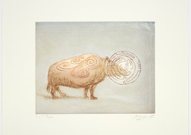 work by Leonora Carrington - Beasts: Tapir