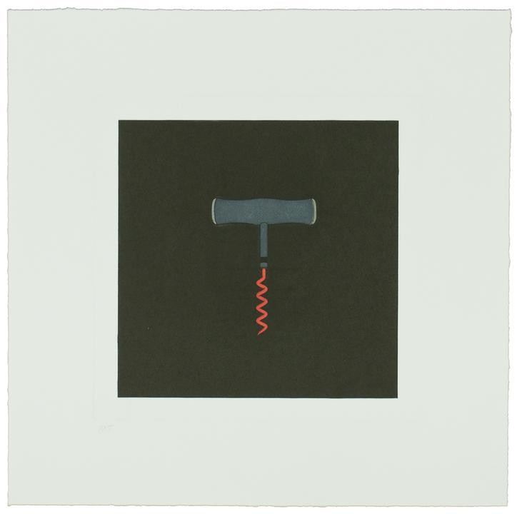 main work - Michael Craig-Martin, The Catalan Suite I - Corkscrew
