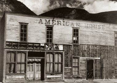 work by Paul Strand - American House, Ghost Town, Colorado, 1931