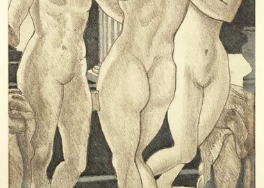 work by Philip Pearlstein - The Three Graces