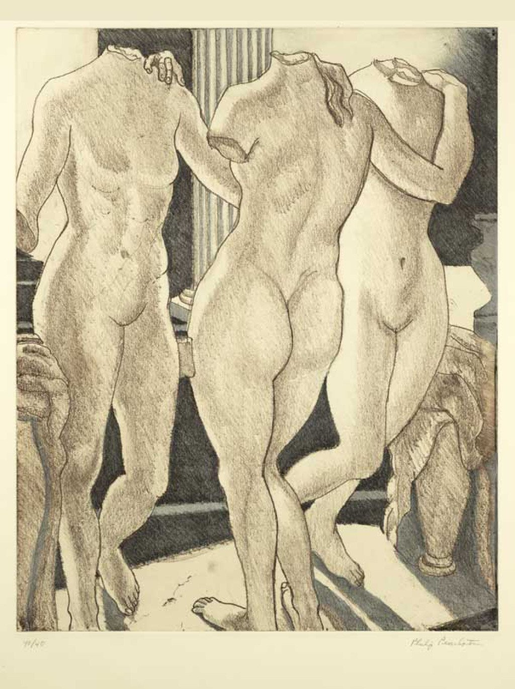 Philip Pearlstein, The Three Graces