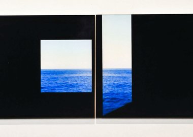 work by Rajorshi Ghosh - Studies in Framing #1 (Rooms by the Sea), Diptych