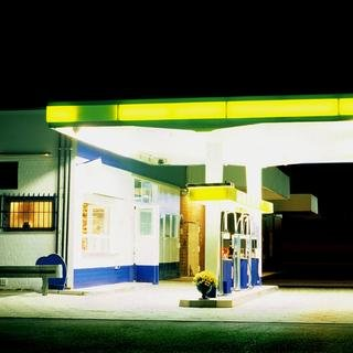Petrol Station (yellow / black) art for sale