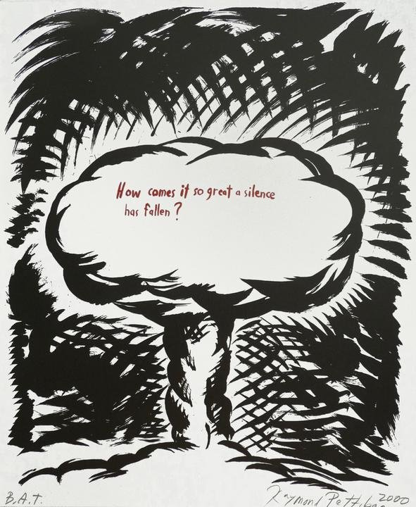 Raymond Pettibon, How Comes It So Great A Silence