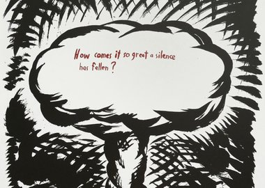 work by Raymond Pettibon - How Comes It So Great A Silence