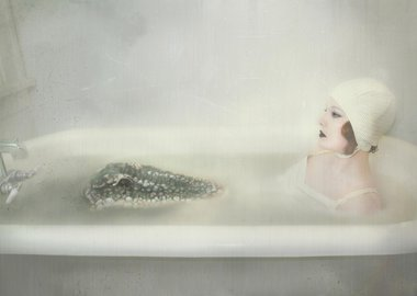 work by Rebecca Graham - Bathtime With Clara and The Domesticated Alligator