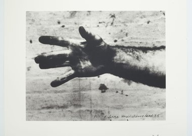 work by Richard Serra - Still from 'Hand Catching Lead'