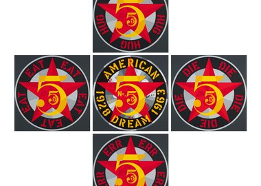 Robert Indiana - American Dream Suite 5 (The Golden Five)