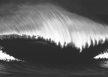 work by Robert Longo - Wave